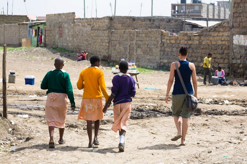 An overview of the play field in Soweto slum in Nairobi, Kenya